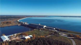 Ett av damanleggene i Daugava River som Multiconsult skal sikkerhetsvurdere.