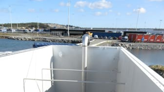 Den første i Norden; SOLVOCARB mobil installert på havnen i Gøteborg.