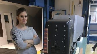 Julie Vernet, forskarstuderande vid mekanikinstitutionen på KTH.