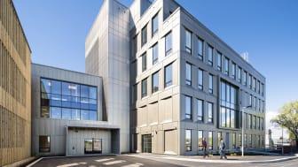 I mai tas det nye psykiatribygget ved Sykehuset i Vestfold i bruk. Foto: Hundven-Clements Photography