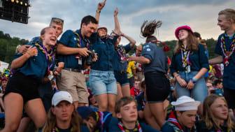Svenska scouter på det stora internationella scoutlägret, Världsscoutjamboree 2019 i USA. Foto: Patrik Hedljung