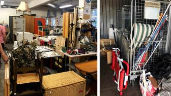 Bilder från Weda Återbruk och återvinningscentralen Returen i Södertälje.