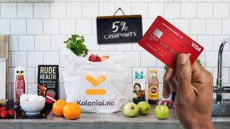 Nå kan medlemmer av Norwegian Reward tjene fem prosent CashPoints på dagligvarer hos Kolonial.no