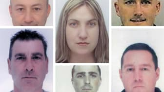 Jailed: Gang stole more than £2.4m in VAT payments. Clockwise from top left:  Michael Myatt, Susanne Green,  Michael Perry,  Arthur Lee, Daniel Weidner, Stephen Maish