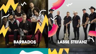 Barbados, Lasse Stefanz, Perikles, Grönwalls och sju andra akter ingår i årets dansbandsprogram på Malmöfestivalen.
