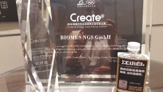 """Der Alibaba """"Prize for Excellence"""" ging 2018 an das Wildauer Startup Biomes."""