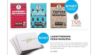 Nyheter i oktober: Lakritsboken & ny choklad från Taza!