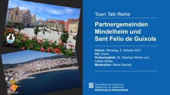 Digitaler Town Talk: Partnergemeinden Mindelheim und Sant Feliu de Guíxols