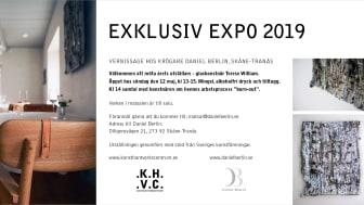 Vernissage för Terese William, årets utställare på Daniel Berlin Krog 2019.