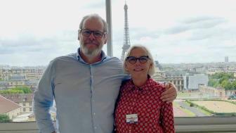 Steven Hartman och Yvonne Eriksson vid Parismötet i juni 2019.