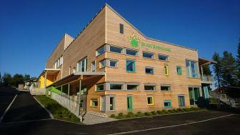 Grannes VVS fikk oppdraget da Norges første svanemerkede barnehage skulle bygges. Barnehagen sto ferdig i august 2017. Foto : Overhalla kommune