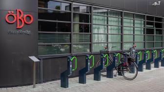 ÖBO och Västerporten är först i Örebro med digitala cykelställ.