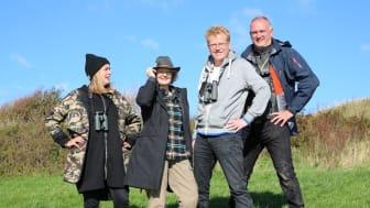 To hold havde 24 timer til at finde tre truede dyrearter i den danske natur. Naturnørderne Sebastian Klein og Morten D.D. Hansen dystede mod de yderst kompetente konkurrenter Bjørli Lehrmann og Vicky Knudsen. Foto: TV2