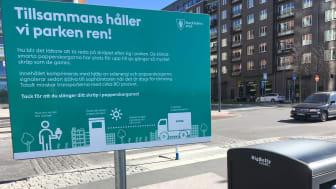 BigBelly - Enhet med solcellsdriven komprimering i Norrmalm, Stockholm
