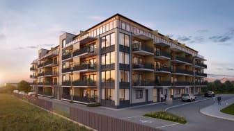 Nu har HSB påbörjat försäljningen av den femte och sista bostadsrättsföreningen i Folkets Park,  HSB brf Spelmannen