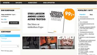 Expos webbutik får nytt utseende och bättre funktionalitet