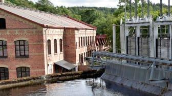 Foto: Anna Erwander. Bilden tagen vid vattenkraftverk i Jonsered.