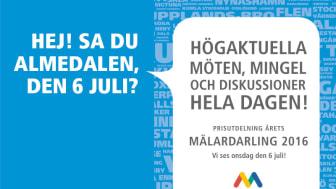 Mälardalsrådet i Almedalen den 6 juli