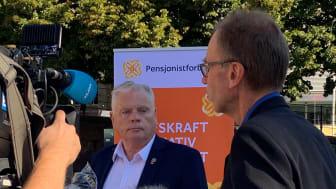 Leder i Pensjonistforbundet Jan Davidsen la ikke skjule på at han var både skuffet og forbannet da regjeringen nok en gang valgte å se bort fra kravene han la fram i årets trygdeoppgjør.