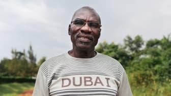 Daudi Jjemba, ansvarig över Namayumba Epicenter Water and Sanitation