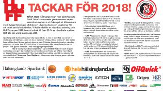 Tack för 2018! Läs om vad vi gjort och vilka viktiga företagspartners som gjort allt möjligt!