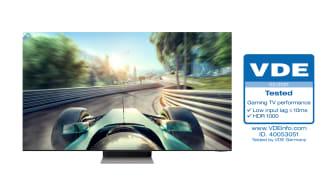 Samsung Neo QLED får bransjens første  «Gaming TV Performance»-sertifisering