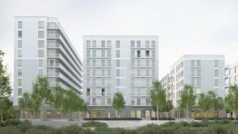 Praktikertjänst planerar att starta en ny vårdcentral i Rosendal, södra Uppsala. Ett område som byggs av Wallenstam. Foto: Wallenstam