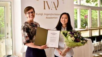 Sara Rydell och hennes internationella team från Junior Academy vann utmärkelsen Ung innovation i kristid av IVA, Kungl. Ingenjörsvetenskapsakademien. Foto - Erik Cronberg