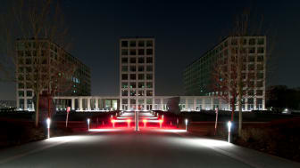 Earth Hour in der Barmenia-Hauptverwaltung in Wuppertal (Notbeleuchtung muss eingeschaltet bleiben)
