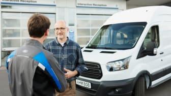 Fords Transit24 er et gratis service koncept til kunder, der er tilknyttet værkstedet hos Fords Transit Erhvervscentre