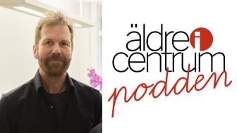 Jonas Nilsson, programledare för podden och chefredaktör för tidningen Äldre i Centrum.
