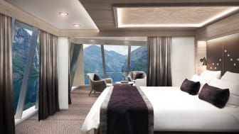 Corner suite MS Maud - photo credit Hurtigruten