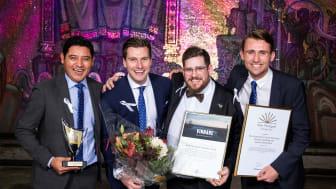 På bilden från vänster: Hector Martinez, Erik Gatenholm, Jockum Svanberg och Gusten Danielsson. Foto: Emma Ekstrand.