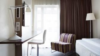 DIN NYE STUDENTHYBEL? Dette rommet på Comfort Hotel Trondheim står klar til å ta imot en student i høst.