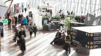 Passengers in terminal. Photo: Daniel Blom