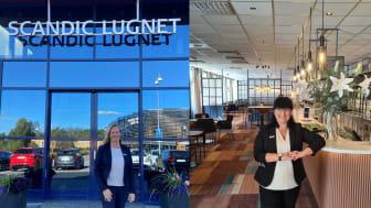 Ulrica Boudiaf och Danijela Salov är nya Hotelldirektörer för Scandic Lugnet och Scandic Borlänge.