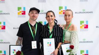 Nackademisterna Christian, Natasha och Alicia, vinnare av PIDA Gold Award 2019