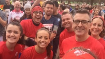 Staff taking part in RED January 2020