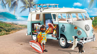 California Feeling mit dem 70826 Volkswagen T1 Camping Bus - Special Edition von PLAYMOBIL