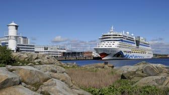 AIDA-fartygen är några av de mest frekventa kryssningsfartygen i Göteborgs Hamn. Har AIDAluna i Arendal vid ett tidigare tillfälle. Bild: Göteborgs Hamn AB.