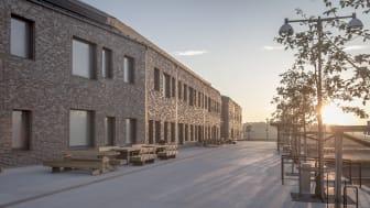 Rättspsykiatriskt Centrum i Trelleborg vinner Årets Bygge och Årets Fasad 2017. Foto: Region Skåne, Terje Östling.