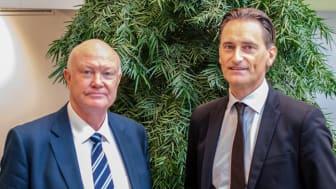 Thomas Andersson till vänster och Tom Pernodd till höger