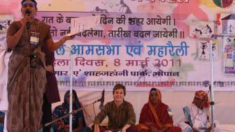 Solidaritetsmeddelanden till kvinnorna i Bhopal