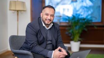Zouhair Arabi-Eter är avdelningschef för näringsliv i Trelleborgs kommun och leder samordningen av det operativa näringslivsarbetet i kommunen.