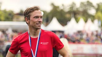 Johan Olsson ser fram emot att slå sin egen tid på årets Lindingölopp Fotograf; Hans Berggren