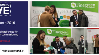 Finegreen exhibiting at Commissioning Live today!