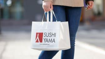 Sushi Yama på Grand Samarkand har en placering som lämpar sig bra för både takeaway och för att äta på plats. Foto: Richard Ström.