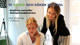 Erika och Sofie arbetar inom försäljning och kalkyl på Veg Tech