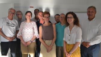 Arbeitskreis PATENMODELL: Prof. Dr. Rupert Felder (re), Patinnen und Paten, Prof. Dr. Hans Rüdiger Kaufmann (li). Foto: Franz Motzko