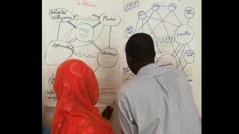 Deltagare vid en av Svenska missionsrådets utbildningar om religions- och övertygelsefrihet i Västafrika.